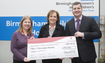 Talbots start Charity of the Year activity with £10k boost for Birmingham Children's Hospital Charity