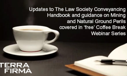 Free webinars: Conveyancing Changes to Mining and Natural Ground Perils