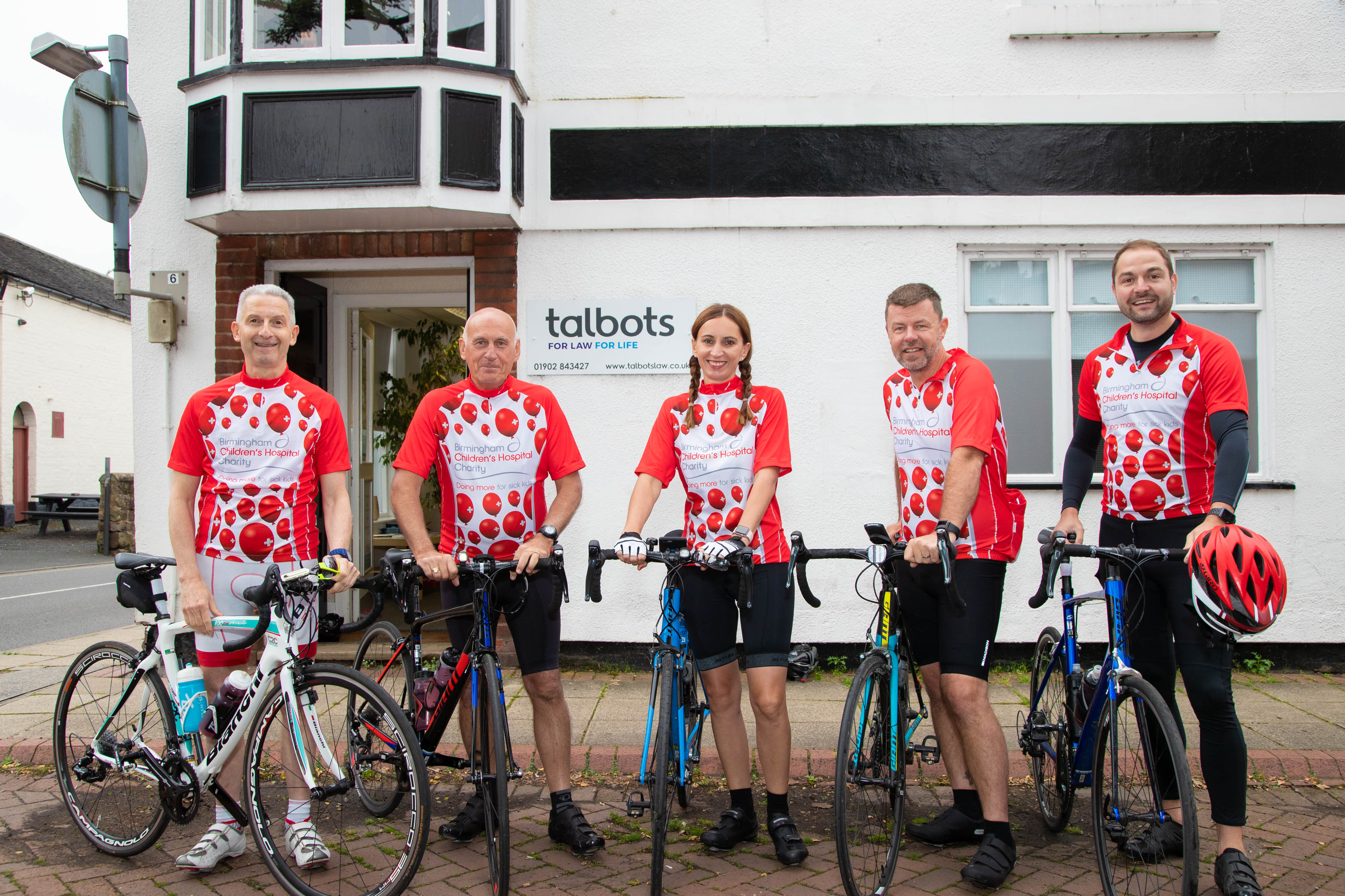 Magnificent 'Law' Seven adopt pedal power to raise £15,000 for Birmingham Children's Hospital