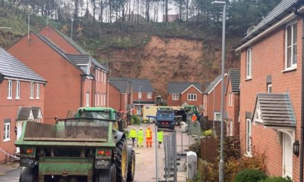 Homes Evacuated after Massive Mansfield Landslide