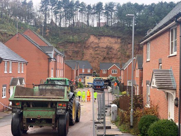 Homes Evacuated after Massive Mansfield Landslide