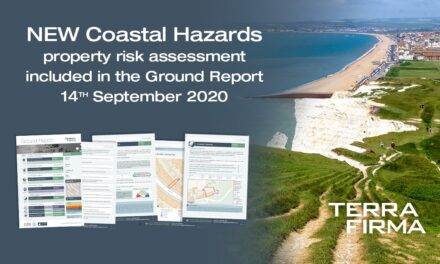 Now Available – The First Property-Specific Coastal Hazards Risk Assessment Included in Terrafirma's Market-Leading Ground Report