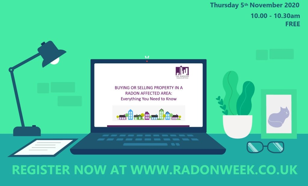 The UK Radon Association host series of short free webinars on subject of radon
