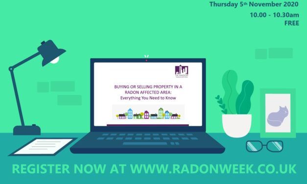 The UK Radon Association host series of short free webinars on subject of radon