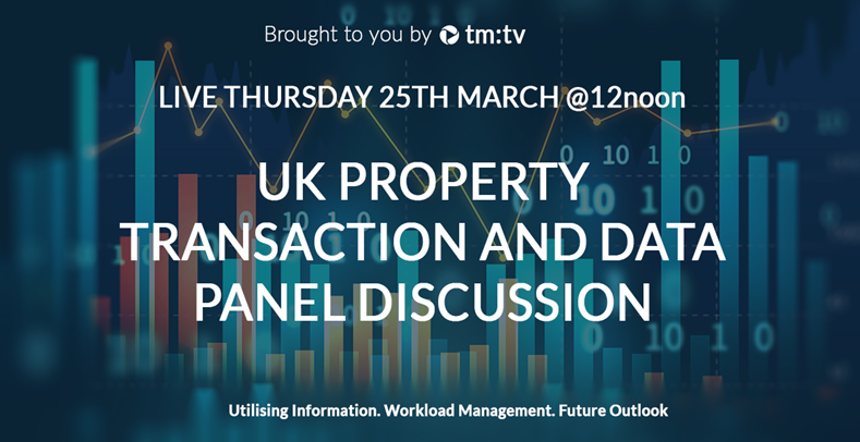 Don't miss our next tm:tv session... UK property transactions and data